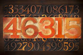 Numerical abstract background — Stock Photo