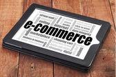 E-commerce word cloud  — Stock fotografie