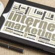 Internet marketing on digital tablet — Stock Photo