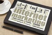Internet marketing on digital tablet — Stock Photo