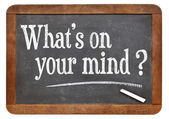 What is on your mind question — Stock Photo