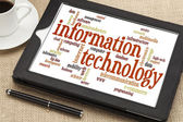 Information technology word cloud — Stock Photo