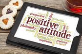 Positive attitude word cloud — Stockfoto