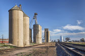 Grain elevators in rural Colorado — Foto de Stock