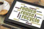 Reduse, reuse, recycle word cloud — Stock Photo