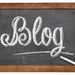 Blog word on blackboard — Stock Photo