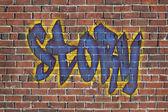Mot d'histoire comme un graffiti — Photo