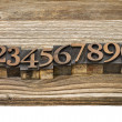 Letterpress number abstract — Stock Photo