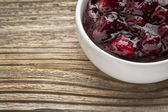 Sugar free cranberry sauce — Stock Photo