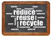 Reduce, reuse, recycle word cloud — Stock Photo