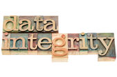 Data integrity in wood type — Stock Photo