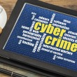 Cybercrime word cloud — Stock Photo