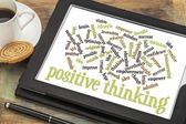 Positive thinking word cloud — Stock Photo