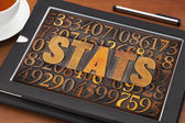 Stats (statistics) word  and numbers — Stock Photo