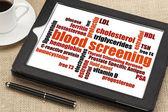 Blood screening word cloud — Stock Photo