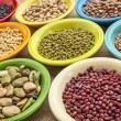 Variety of beans in bowls — Stock Photo #44567909