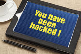 You have been hacked — Stock Photo