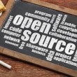 Open source word cloud — Stock Photo
