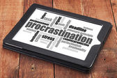 Procrastination word cloud — Photo