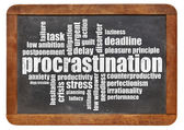 Procrastination word cloud — Stock Photo