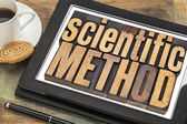 Scientific method on digital tablet — Stock Photo
