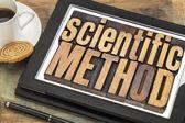 Scientific method on digital tablet — Stock Photo