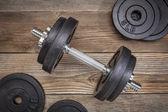 Oefening gewichten — Stockfoto
