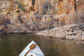 Canoe on a Colorado lake — Stock Photo