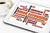 Blood screening health concept  — Stock Photo