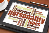Personality types word cloud  — Foto Stock