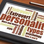 Постер, плакат: Personality types word cloud