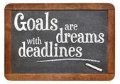Ziele sind Träume mit Fristen — Stockfoto
