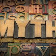 Myth word in wood type — Stock Photo #46096449