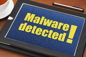 Malware detected alert — Stock Photo