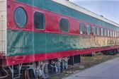Vintage railroad passenger car — Photo