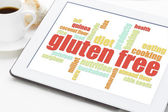 Gluten free cooking word cloud  — Stock Photo