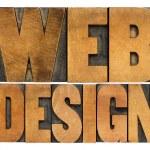 Web design in letterpress typography — Stock Photo #46710865