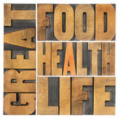 Great food, health and life — Stock Photo