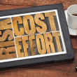 Cost, effort, risk - business concept — Stock Photo #47165923