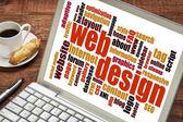 Web tasarım kelime bulutu — Stok fotoğraf