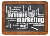 Affilliate marketing word cloud — Stock Photo