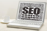 Search engine optimization - SEO — Stock Photo