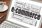 E-commerce word cloud — Stok fotoğraf