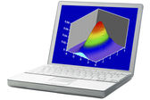 Scientific graph on a laptop — Stock Photo