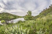 Horsetooth Reservoir in springtime — Stock Photo