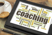 Coaching word cloud — Stock Photo