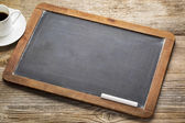 Blank vintage slate blackboard — Stock Photo