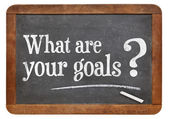 What are your goals question — Stock Photo
