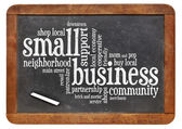 Small business word cloud — Stock Photo