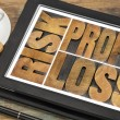 Risk, profit, loss on a tablet — Stock Photo #48041249